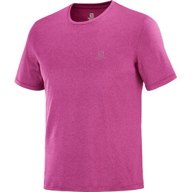Salomon Explr SS Tee Men, purple potion/fuchsia red/heather
